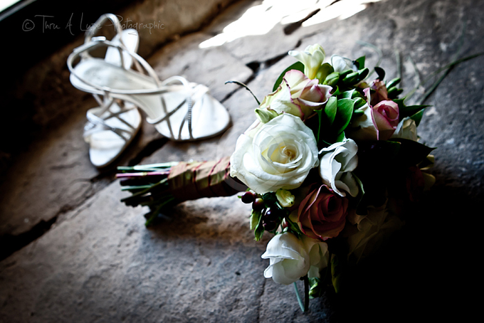 Thru A Lupe Photographic Bouquet and Shoes