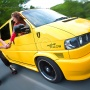 Quirky Modified VW T4 Rig Shot